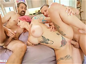 stuffed Anna Bell Peaks busts ash she plows two hard-ons