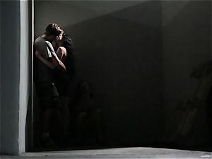 Asa Akira strokes as she sees a super-naughty couple