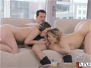 VIXEN super-naughty assistant Can't Hold Back Anymore In astounding three way