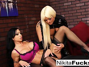 Nikita Von James and pearl Jade shag