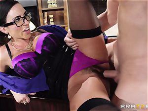 Ariella Ferrera takes a dose from Danica Dillans man
