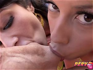 PervCity Bridgette B and Mya Nicole big-chested MOMs