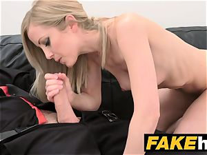 faux Agent bashful ash-blonde model enjoys bald vagina ate
