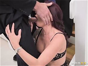 humble spouse sees his wife Monique Alexander get ass-fucked