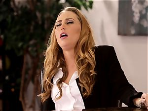 Under table gash tonguing with Carter Cruise