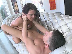 Top buxomy stunner Keisha Grey gets naughty with Mick's stiffy