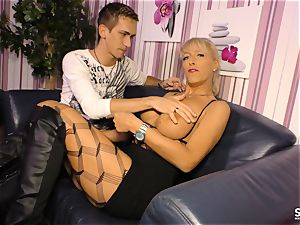 SexTapeGermany - German romp gauze with ash-blonde cougar