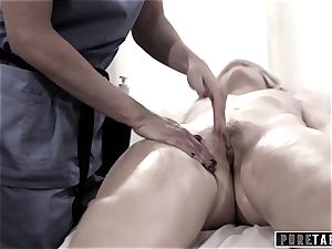 pure TABOO college female Duped 2 fucking masseur couple