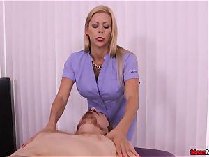 blonde mummy throbbing pecker Having Some painful orgasm