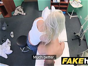faux health center enormous bra-stuffers milf chiropractor smashes medic