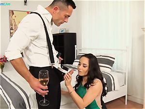 horny Aurelly Rebel getting porked firm after party