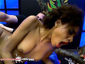 dark-hued babe Luna Corazon likes man-cream - German Goo nymphs