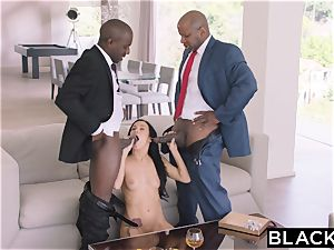 BLACKED sizzling Megan Rain Gets DP'd By Her Sugar parent and His friend