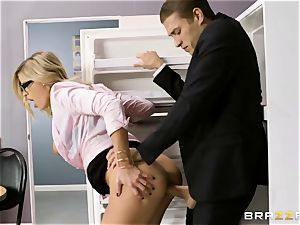Office porn with insane fresh assitant Jessa Rhodes and her phat chief Keiran Lee