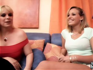 SEXYMOMMA - gorgeous stepmom scissors vag with sugary-sweet teen