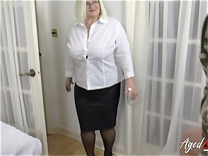 AgedLovE Lacey Starr plumbing rigid with Soldier