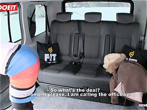 LETSDOEIT - Czech mega-bitch Tricked and drilled By taxi Driver