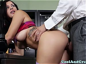 athletic cutie boinked by her coach in his office