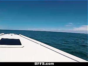 Spring break boat fuck