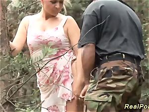 huge-chested stepmom likes fucky-fucky in nature