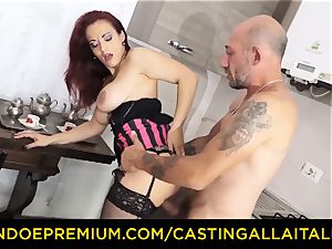 casting ALLA ITALIANA - big-chested rookie goes for anal invasion hookup
