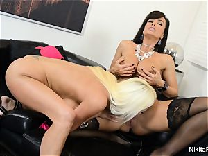 super hot Russian Nikita Von James drills pornography legen Lisa Ann