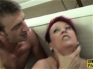 ginger-haired british slave roughly torn up