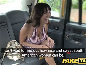 faux taxi fabulous milf with ginormous titties does ass-fuck