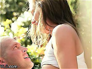 Angel Blade orgasming on lollipop