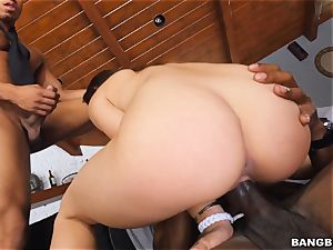 enormous dark-hued three-way for Sara Luvv