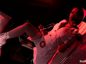 super scorching nurse skin Diamond gives a spectacular taunt