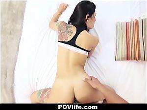sumptuous Latina Gina Valentina pov plumbing