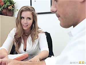 Office fuck with huge-boobed boss Lena Paul