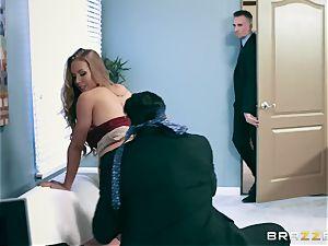 Office slut Nicole gets her hungry fuck hole double smashed