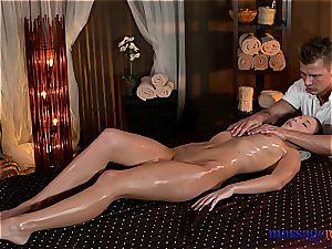 Nuru massage turns to voluptuous pounding