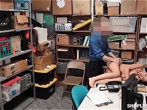 fabulous shoplifter getting pumped in the back apartment