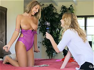 August Ames and Kenna James getting delicious on web cam