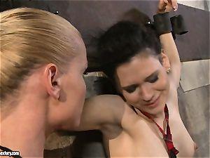 Kathia Nobili tantalizing a kinky college girl