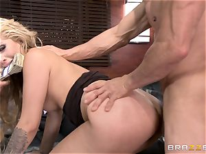 very first dual intrusion for Madelyn Monroe