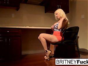 Britney tempts a large wood