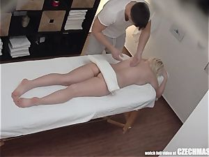 huge-boobed towheaded rails masseur