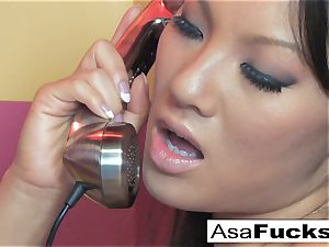 Asa gets warm and crazy on the phone
