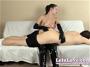 female dom slapping his caboose with my hairbrush mitts..