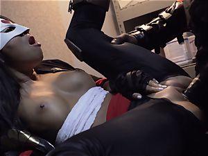 Suicide squad parody Sn 4 Ada Akira riding dark-hued manmeat