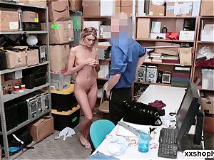Shoplifter Emma Hix gets boink in the office by LPs manhood