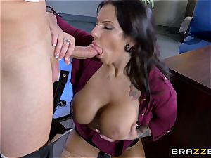 sugary ginormous jugged stunner Lylith Lavey getting pulverized