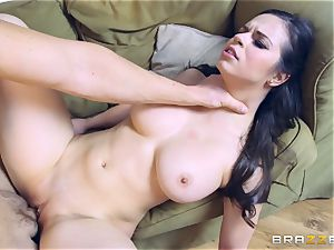 marvelous brunette Peta Jensen crammed in her tastey cunny