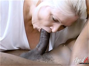 AgedLovE enormous black lollipop and ash-blonde Mature round