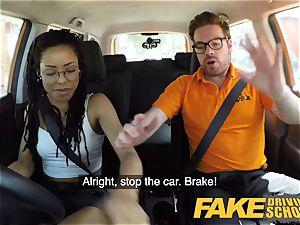 fake Driving college black yankee minx Kira Noir