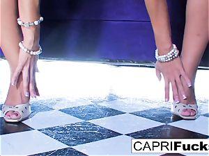 Capri showcases off her cock-squeezing body and taut vulva
